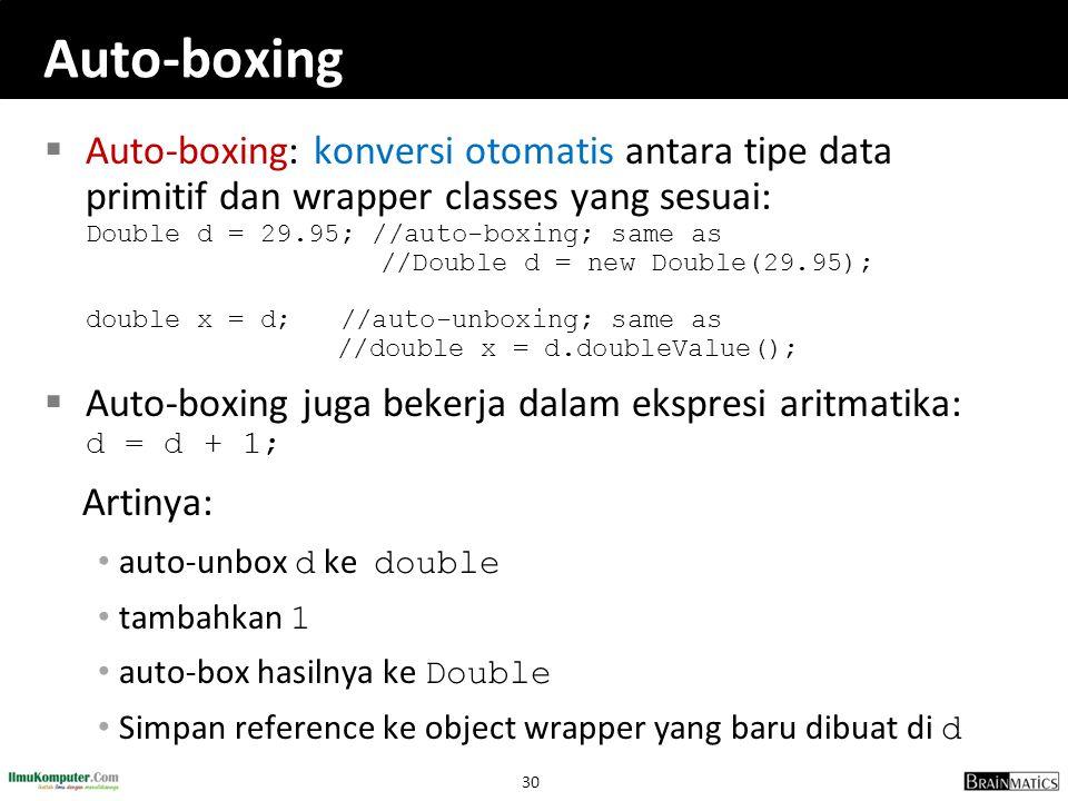 Auto-boxing