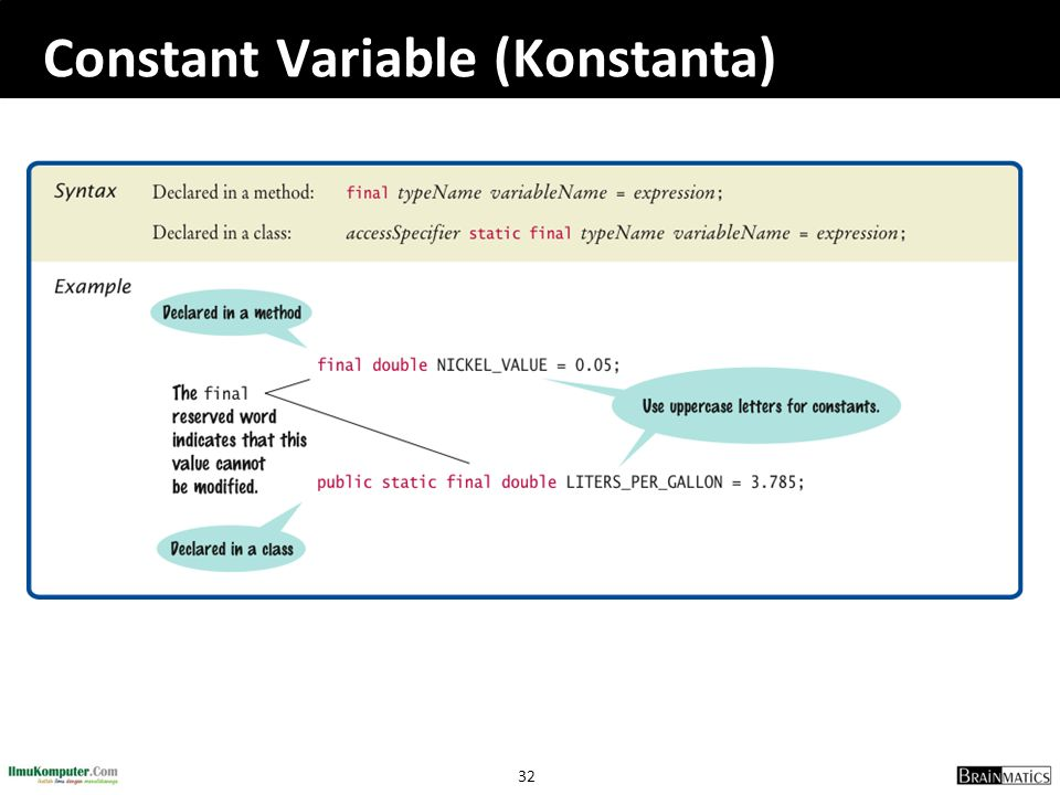 Constant Variable (Konstanta)