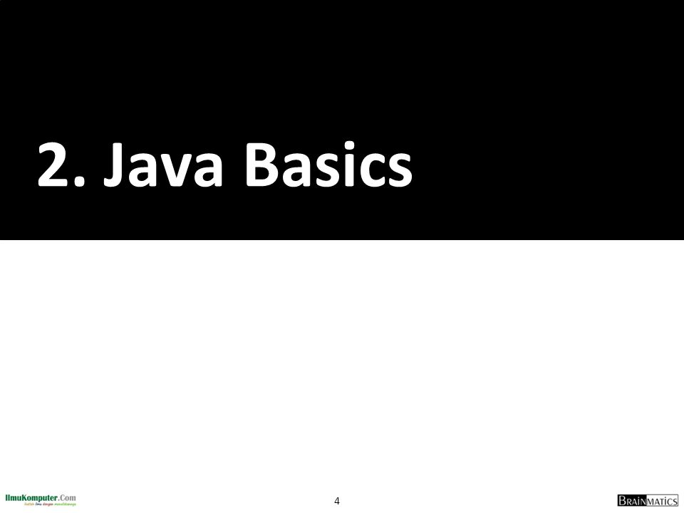 2. Java Basics