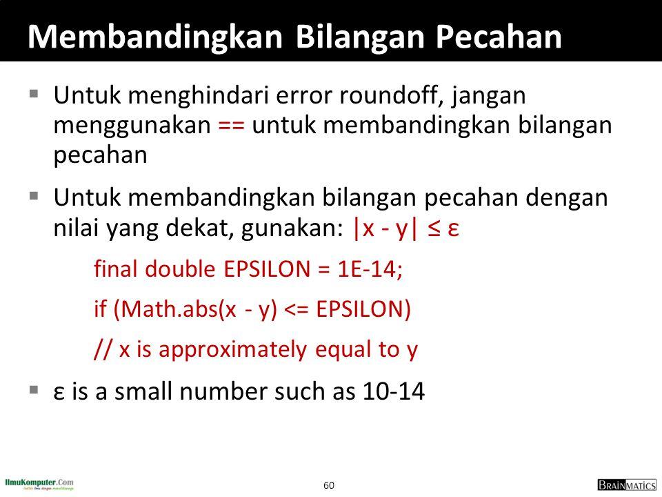 Membandingkan Bilangan Pecahan