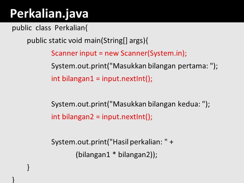 romi@romisatriawahono.net Object-Oriented Programming. Perkalian.java.