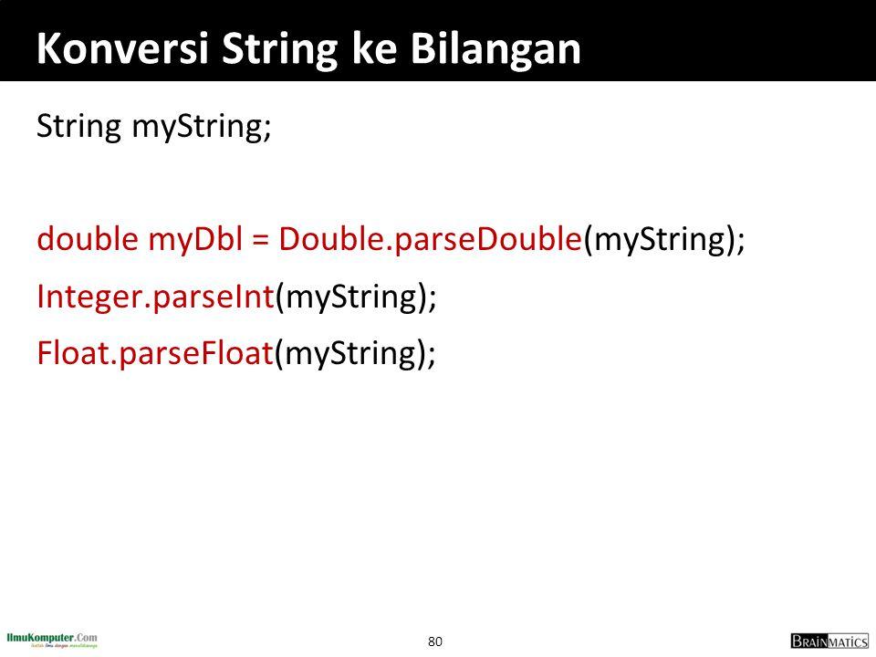 Konversi String ke Bilangan