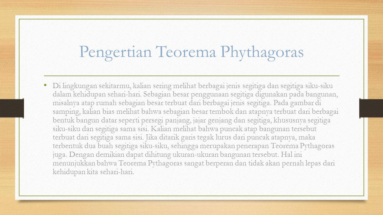Pengertian Teorema Phythagoras