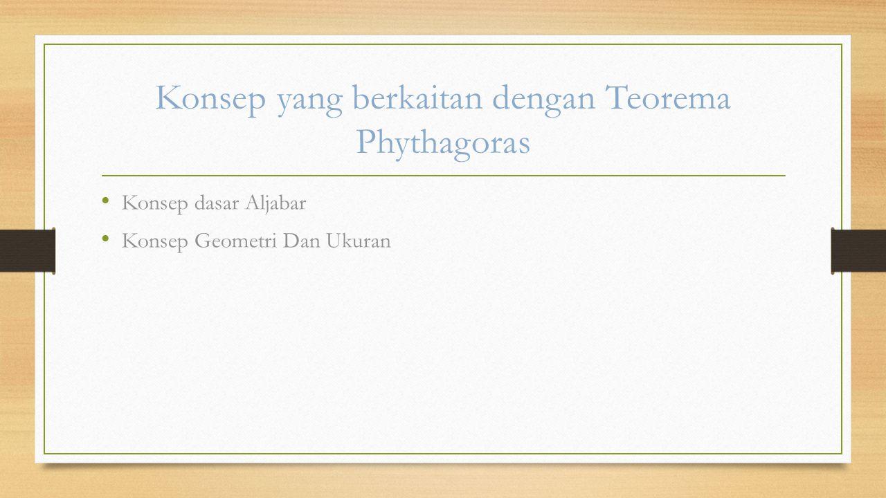 Konsep yang berkaitan dengan Teorema Phythagoras