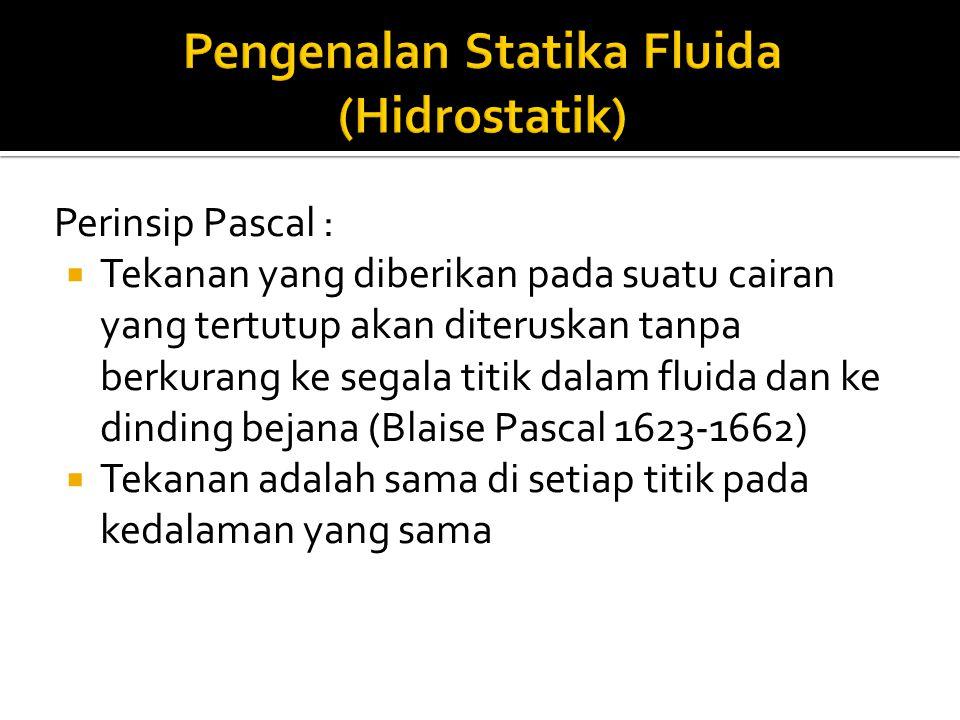 Pengenalan Statika Fluida (Hidrostatik)