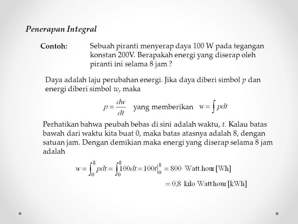 Penerapan Integral Contoh: