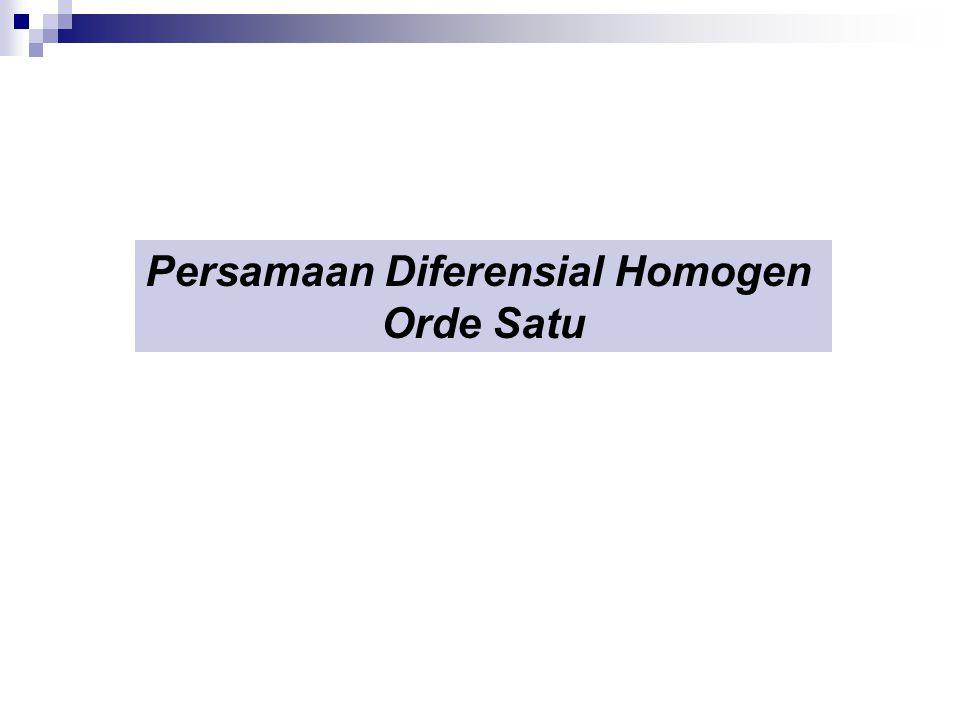 Persamaan Diferensial Homogen