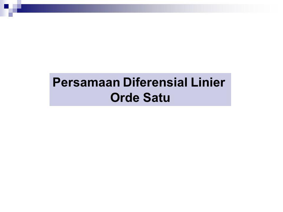 Persamaan Diferensial Linier