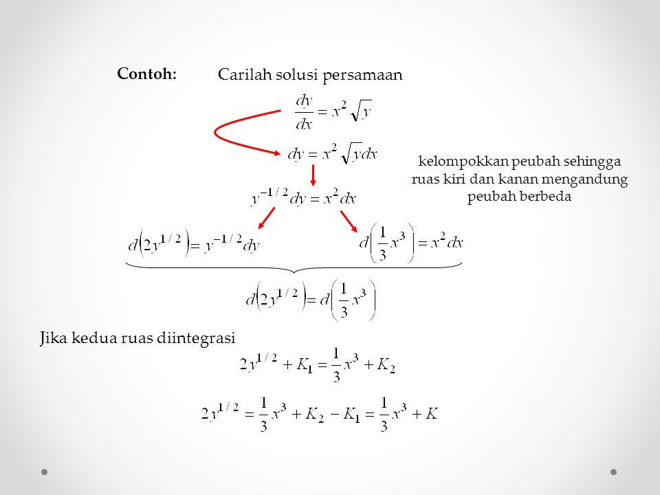 Carilah solusi persamaan