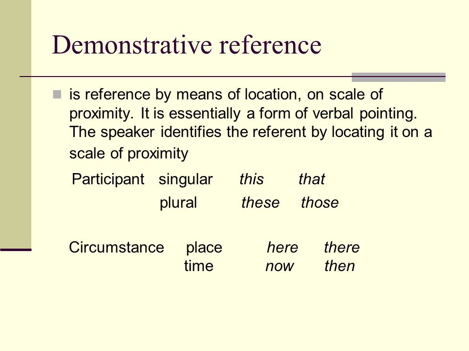 Demonstrative reference