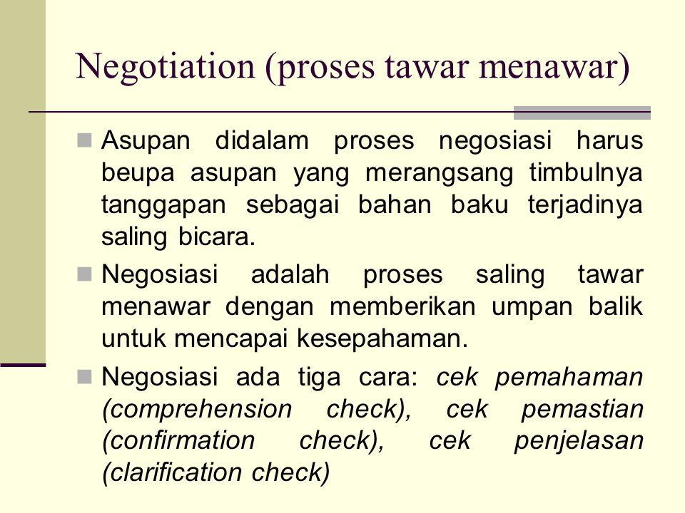 Negotiation (proses tawar menawar)