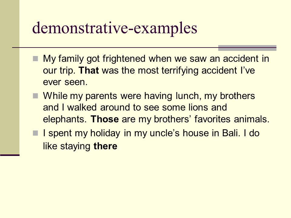 demonstrative-examples