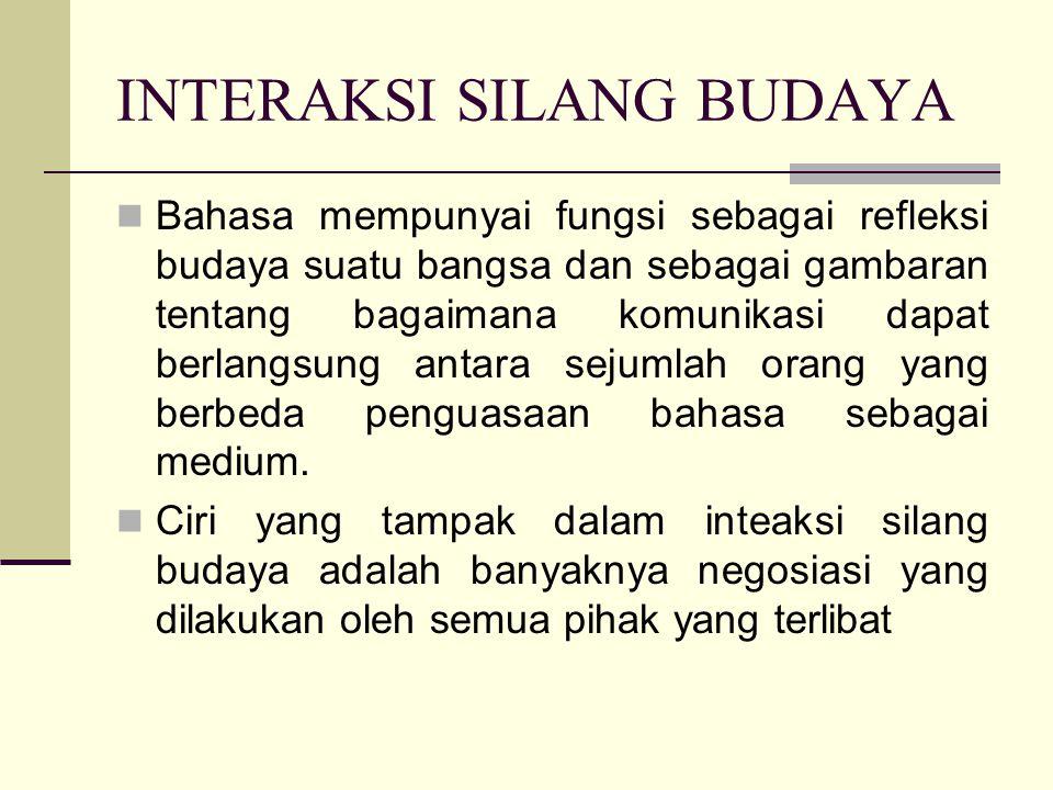 INTERAKSI SILANG BUDAYA
