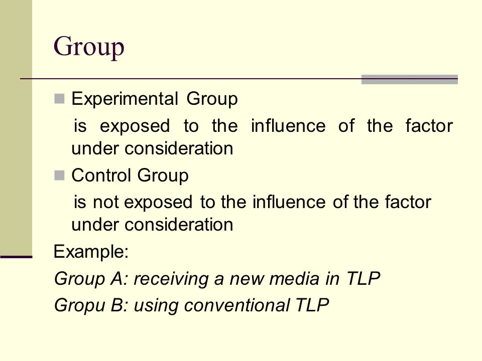 Group Experimental Group