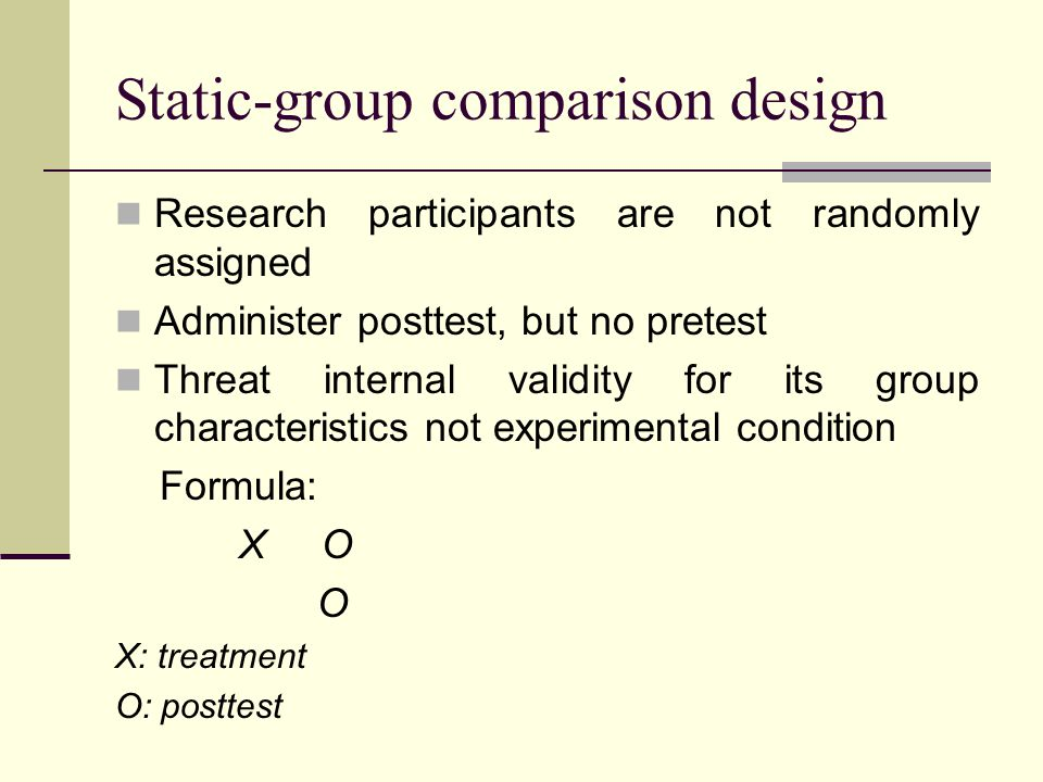 Static-group comparison design