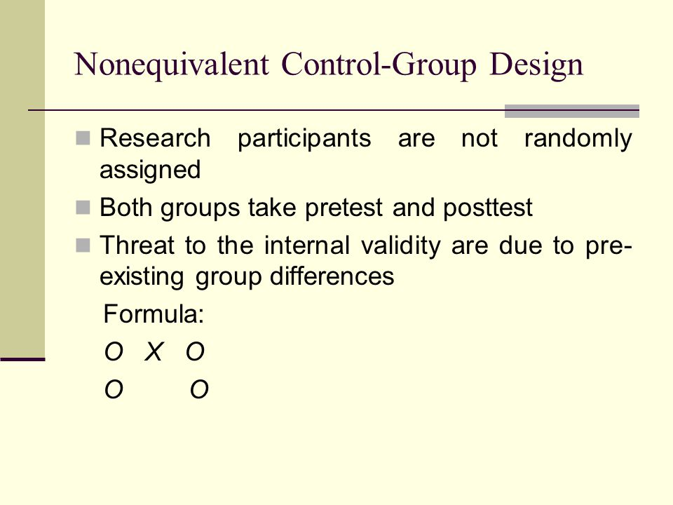 Nonequivalent Control-Group Design