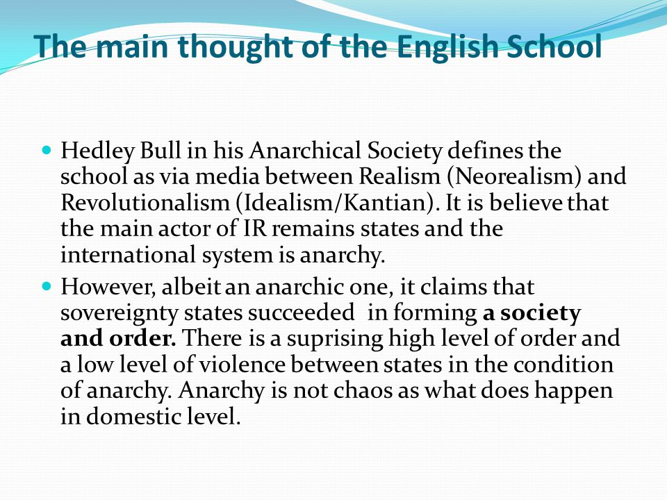 The main thought of the English School