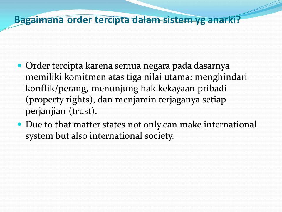 Bagaimana order tercipta dalam sistem yg anarki