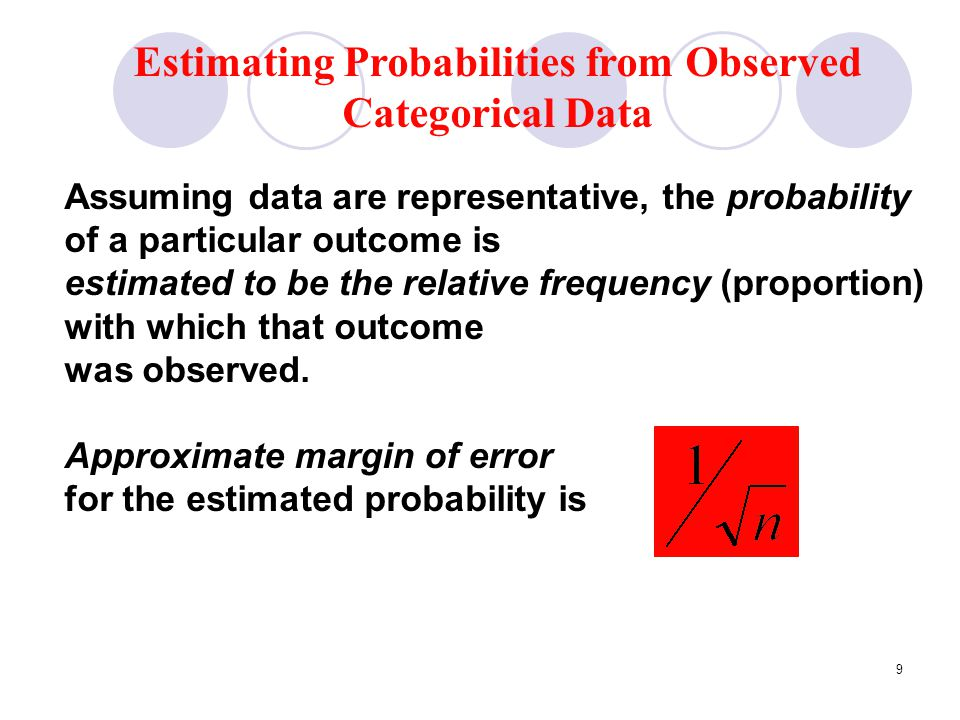 Estimating Probabilities from Observed Categorical Data