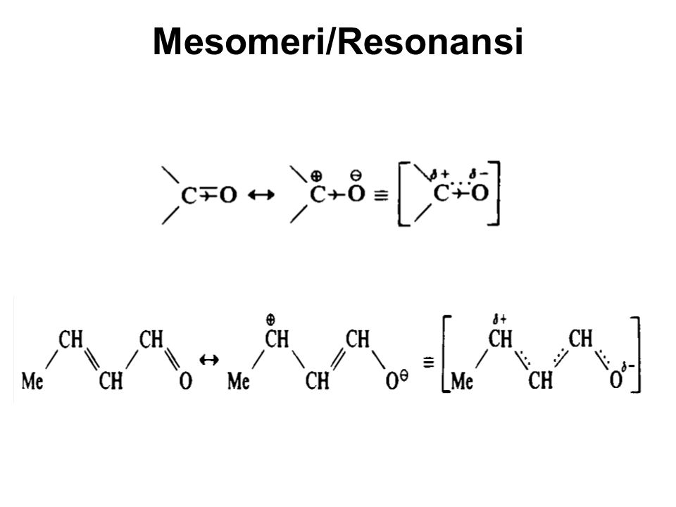 Mesomeri/Resonansi
