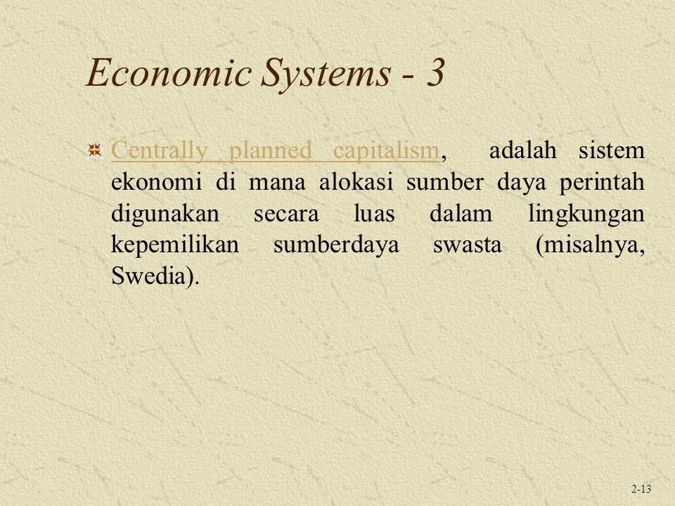 Economic Systems - 3