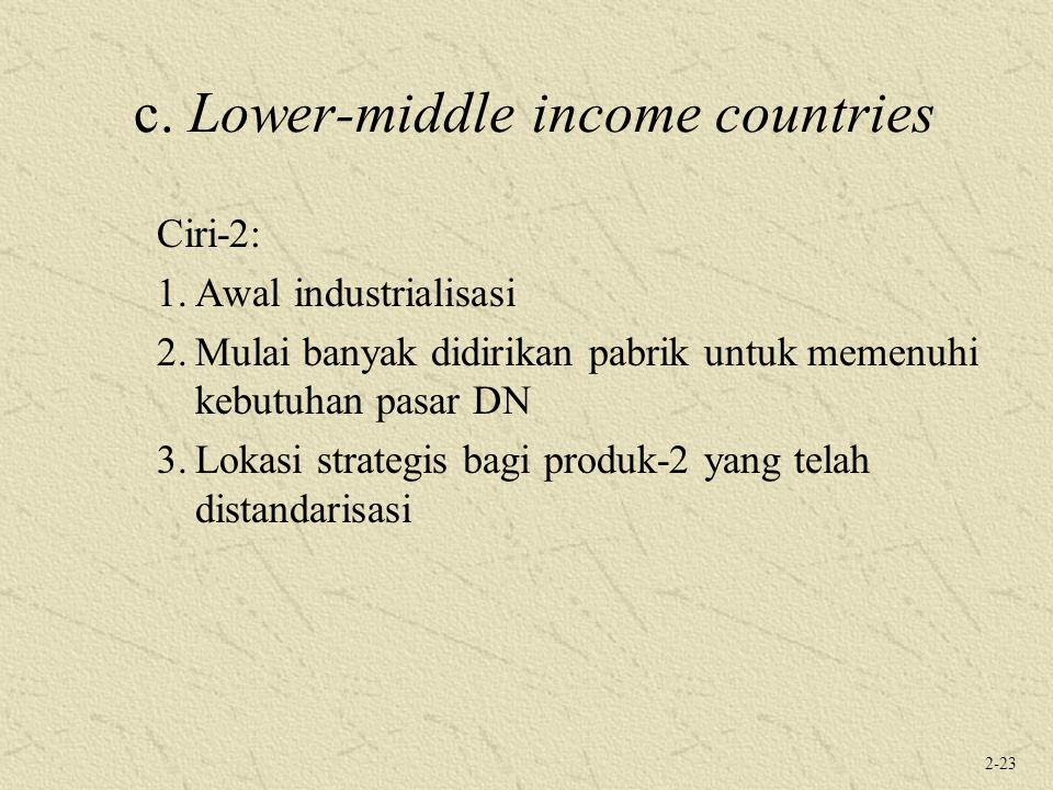 c. Lower-middle income countries