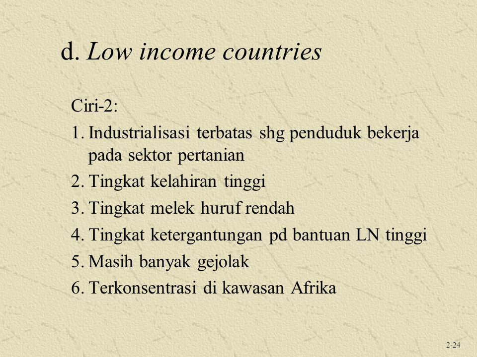 d. Low income countries Ciri-2: