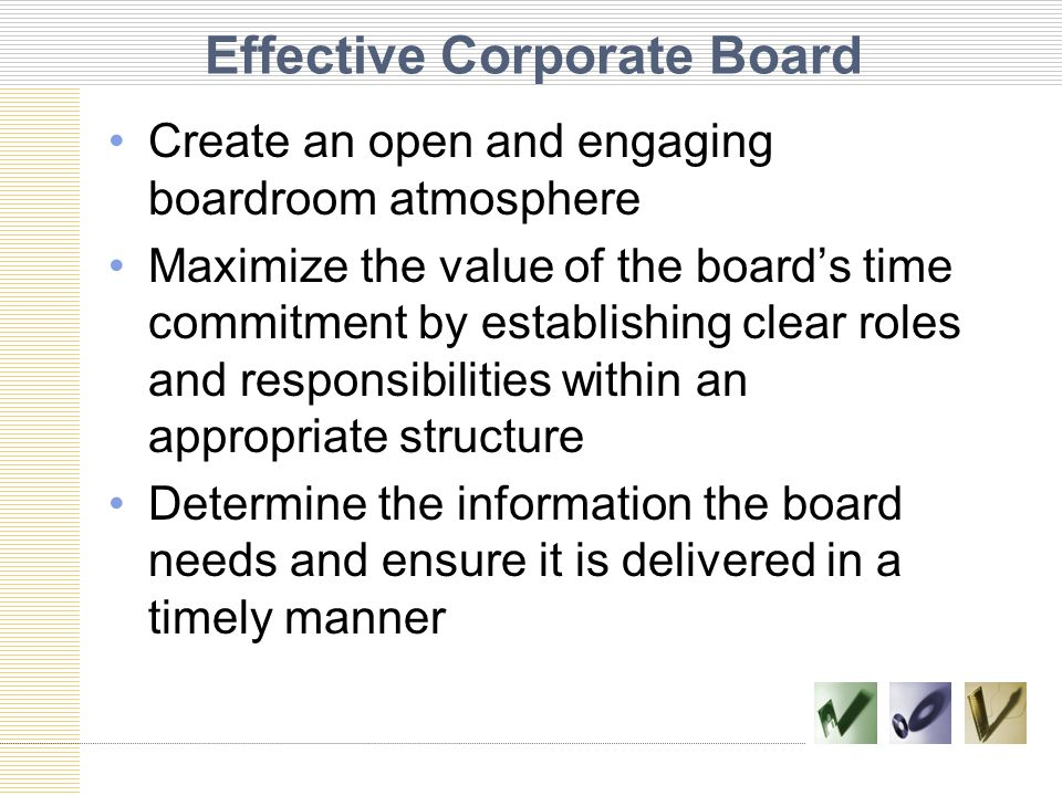 Effective Corporate Board