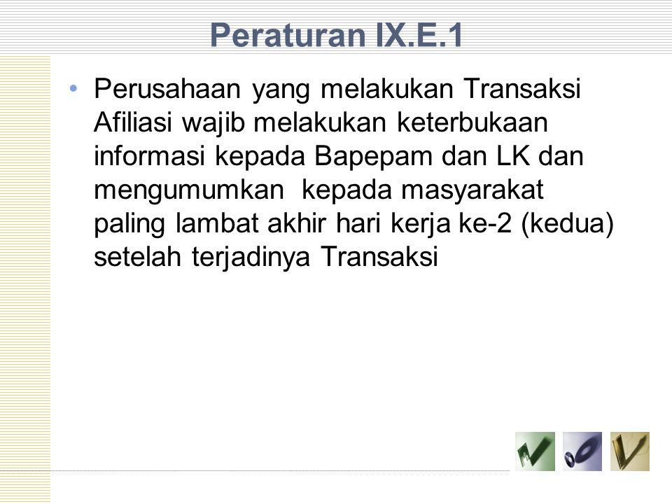 Peraturan IX.E.1