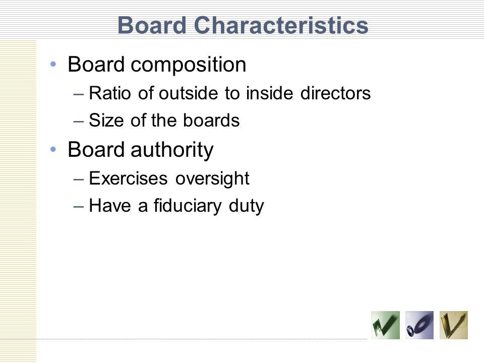 Board Characteristics