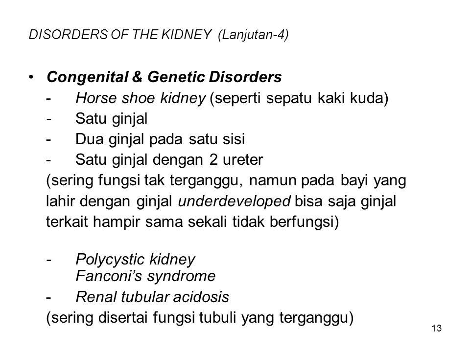 DISORDERS OF THE KIDNEY (Lanjutan-4)