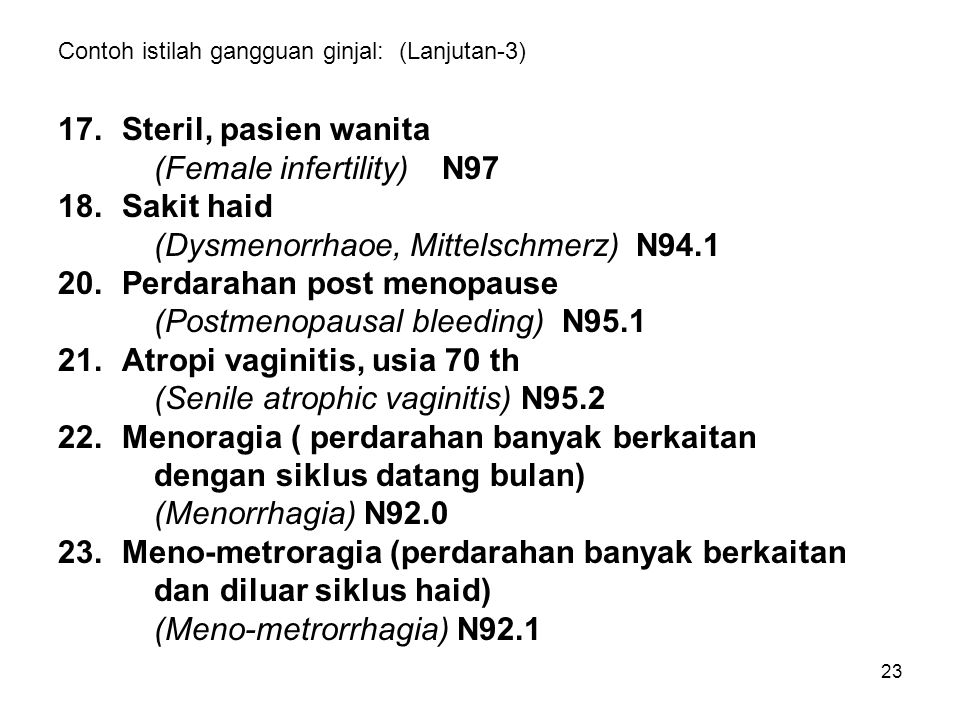 Contoh istilah gangguan ginjal: (Lanjutan-3)