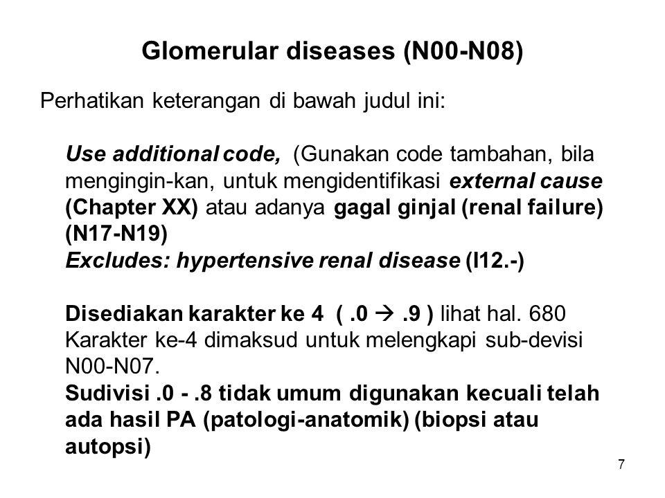 Glomerular diseases (N00-N08)