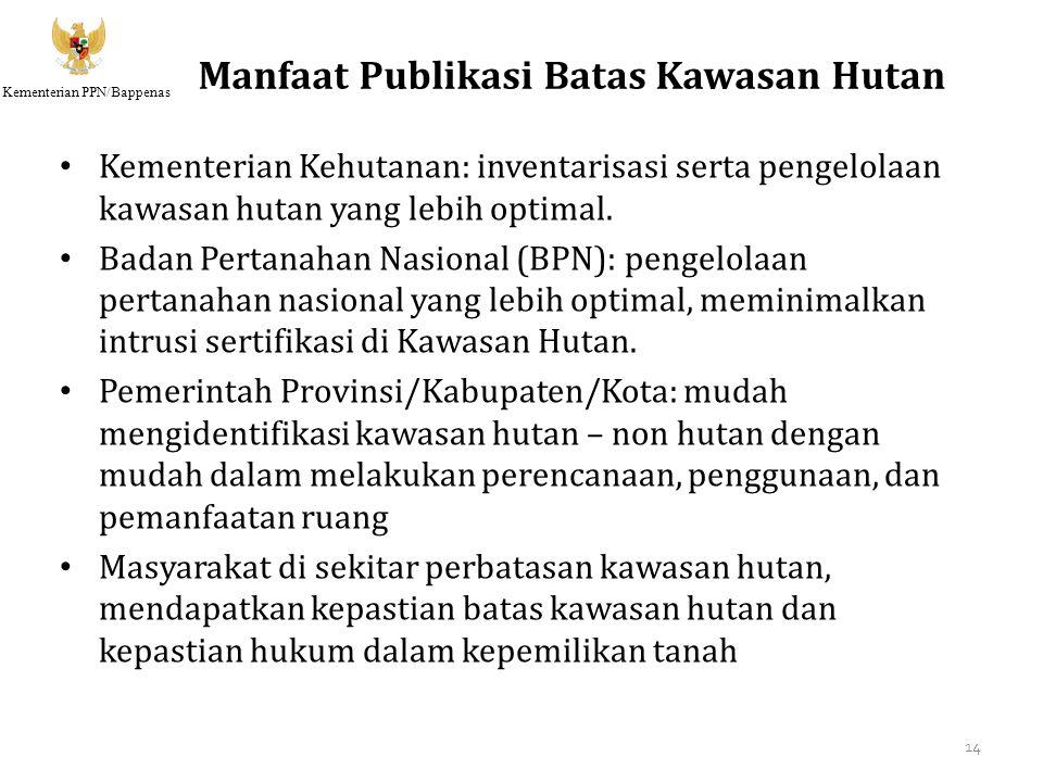 Manfaat Publikasi Batas Kawasan Hutan