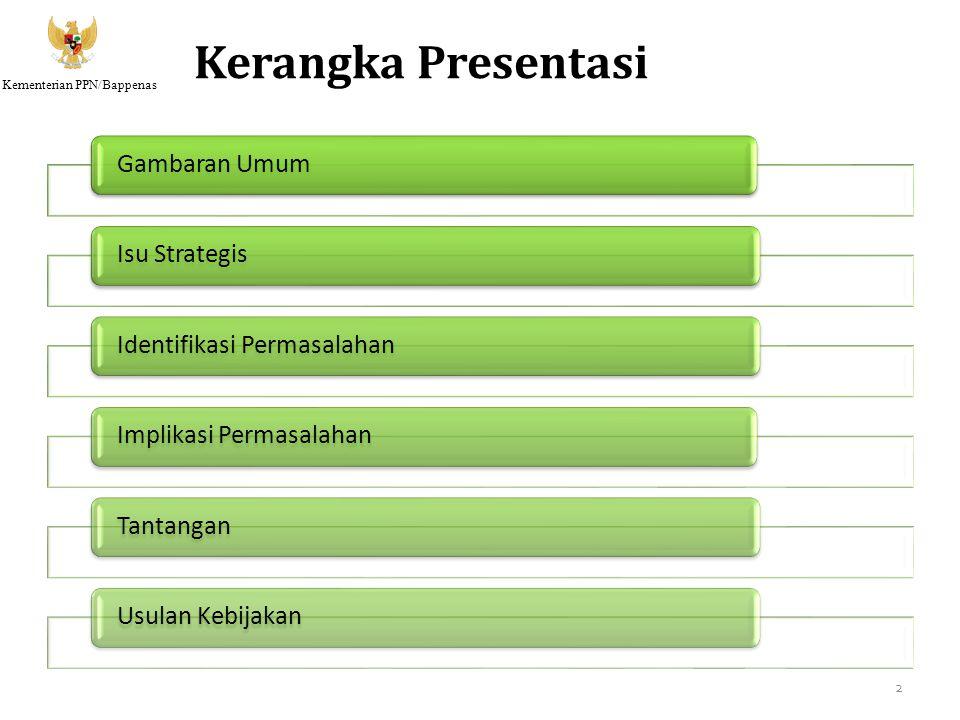 Kerangka Presentasi Gambaran Umum Isu Strategis