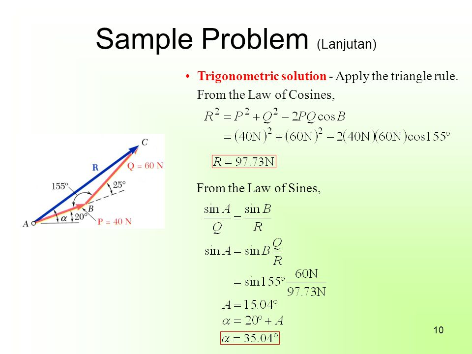 Sample Problem (Lanjutan)