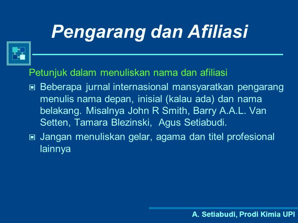 Pengarang dan Afiliasi