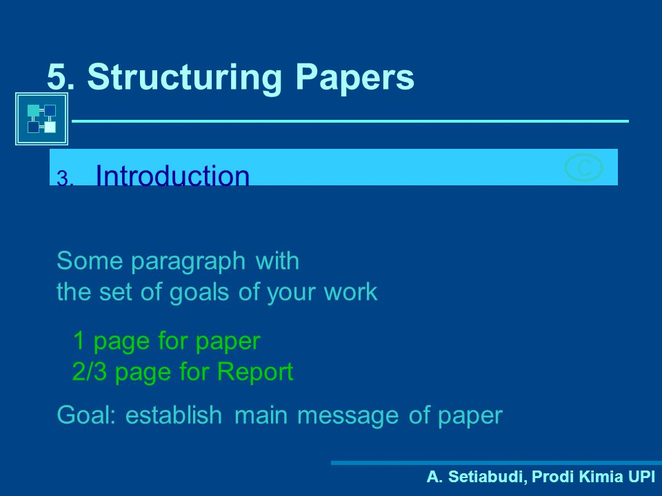 5. Structuring Papers Introduction Some paragraph with