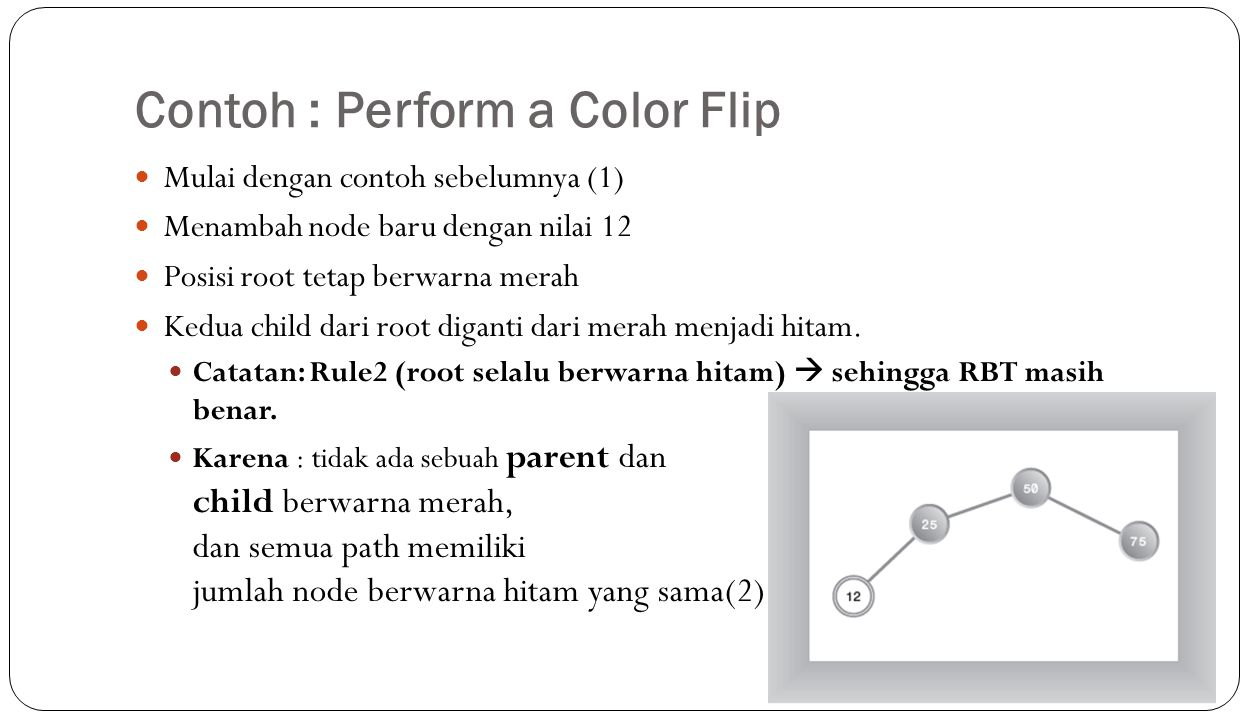 Contoh : Perform a Color Flip