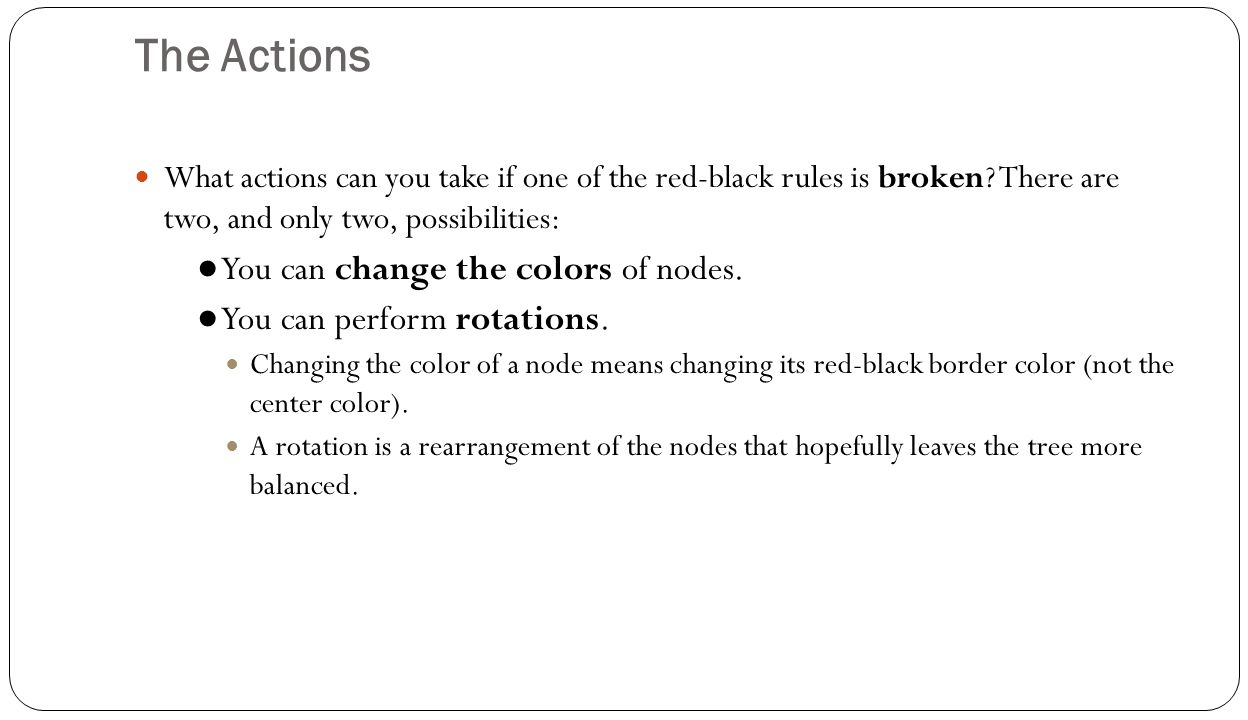 The Actions ● You can change the colors of nodes.