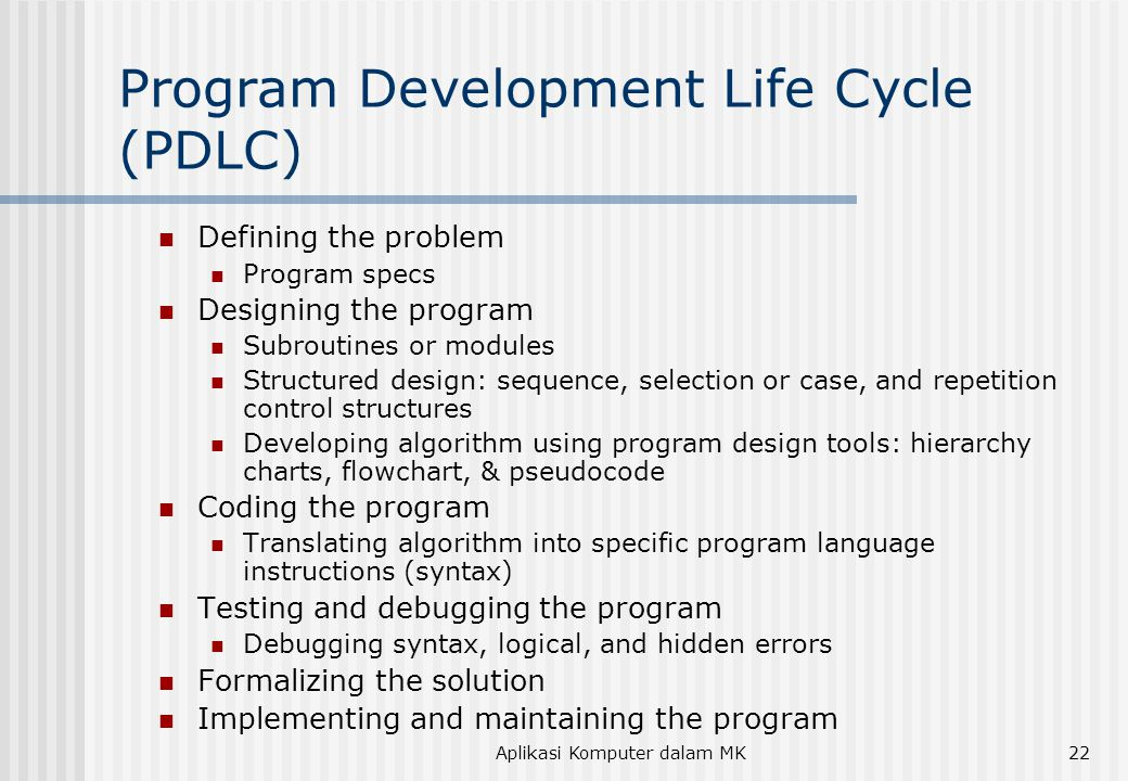 Program Development Life Cycle (PDLC)