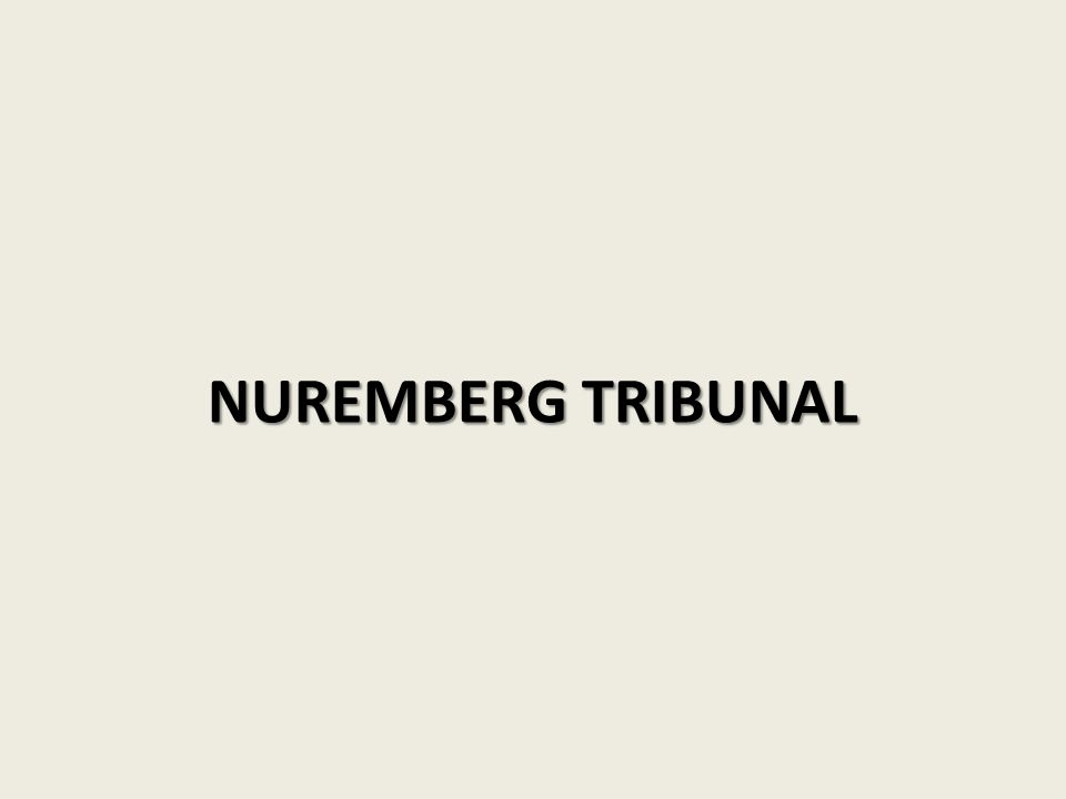 NUREMBERG TRIBUNAL