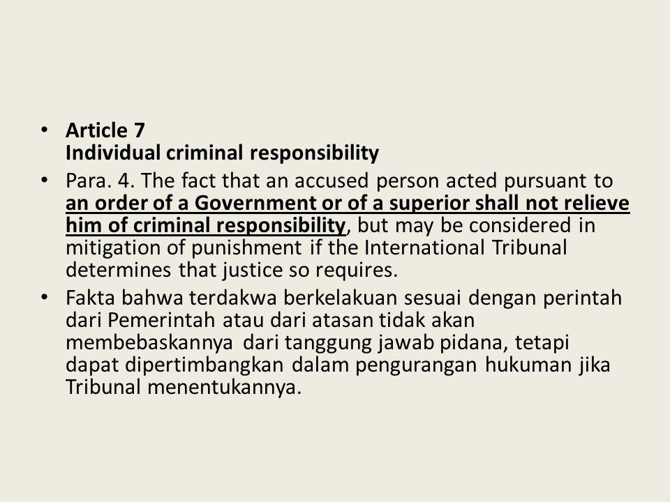 Article 7 Individual criminal responsibility