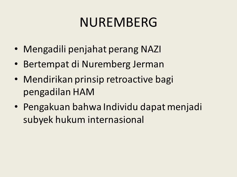 NUREMBERG Mengadili penjahat perang NAZI Bertempat di Nuremberg Jerman