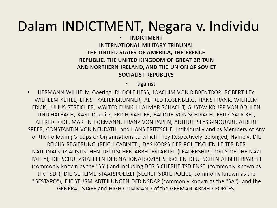 Dalam INDICTMENT, Negara v. Individu