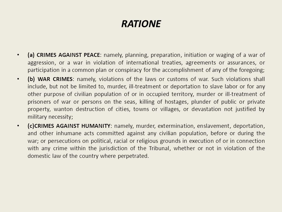 RATIONE