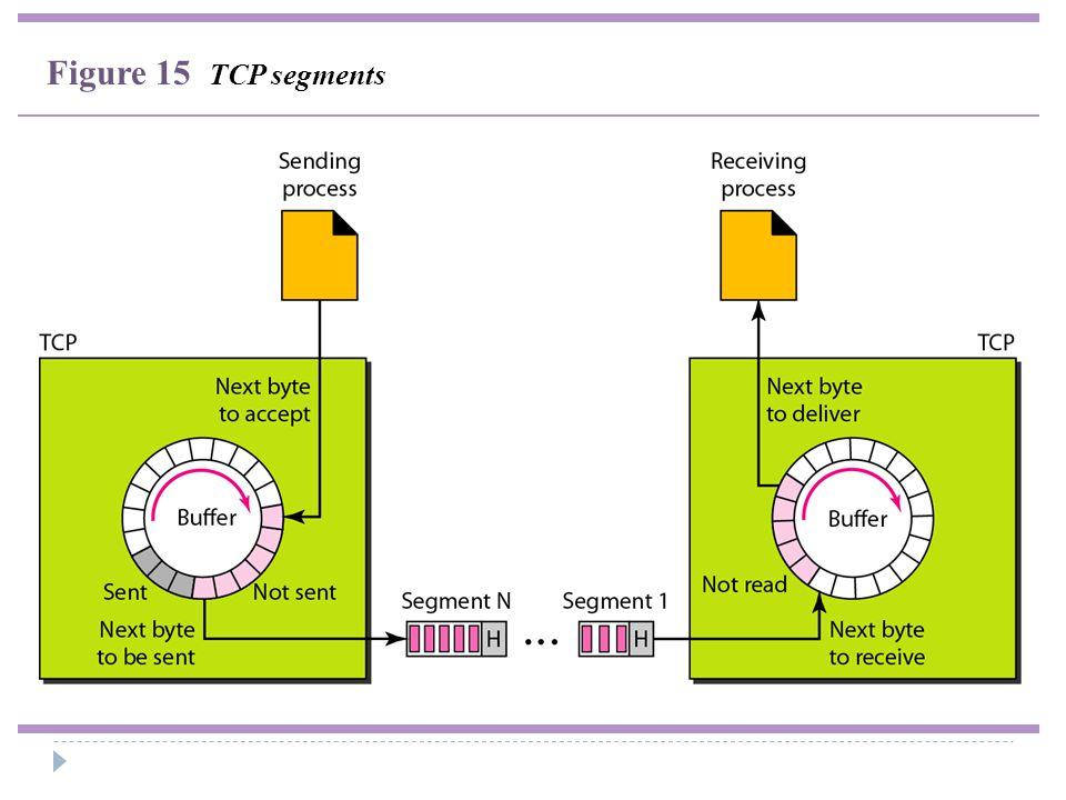 Figure 15 TCP segments