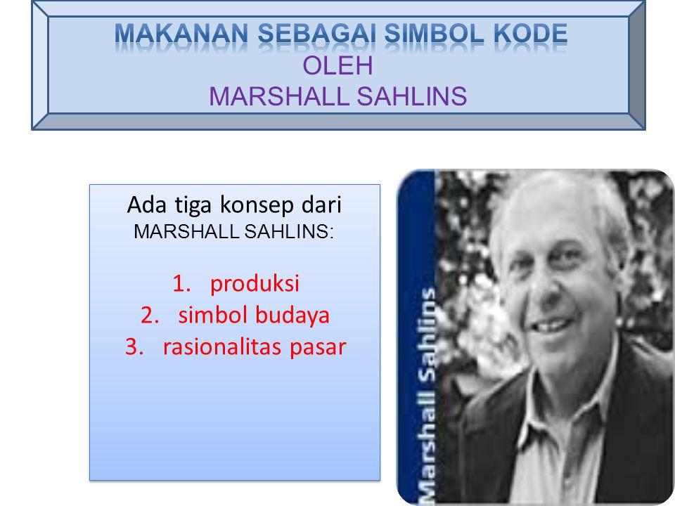 MAKANAN SEBAGAI SIMBOL KODE OLEH MARSHALL SAHLINS