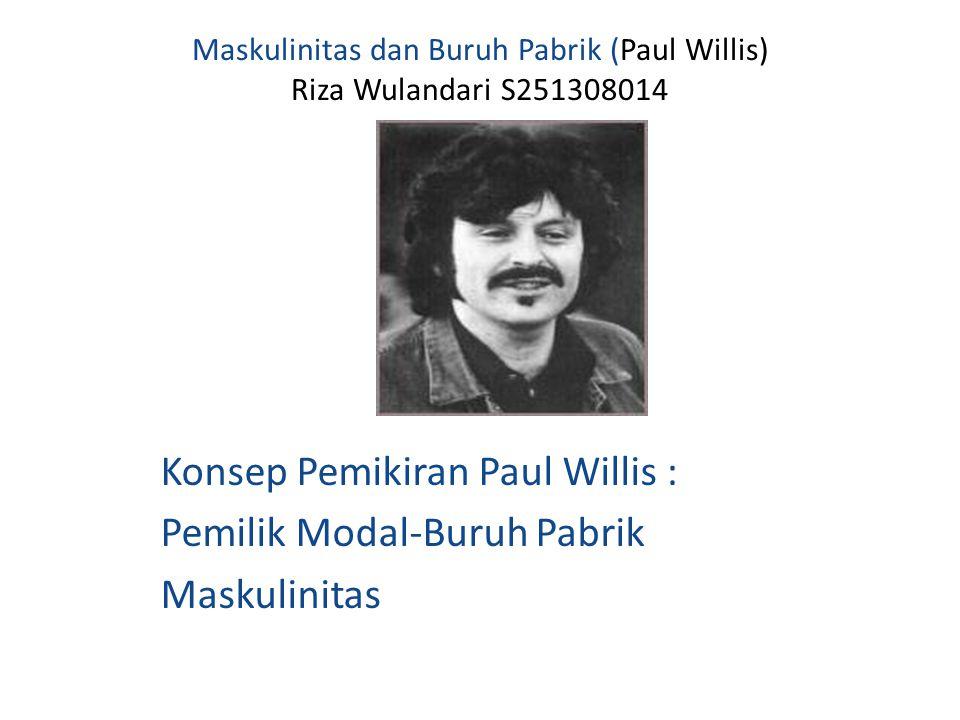 Maskulinitas dan Buruh Pabrik (Paul Willis) Riza Wulandari S251308014