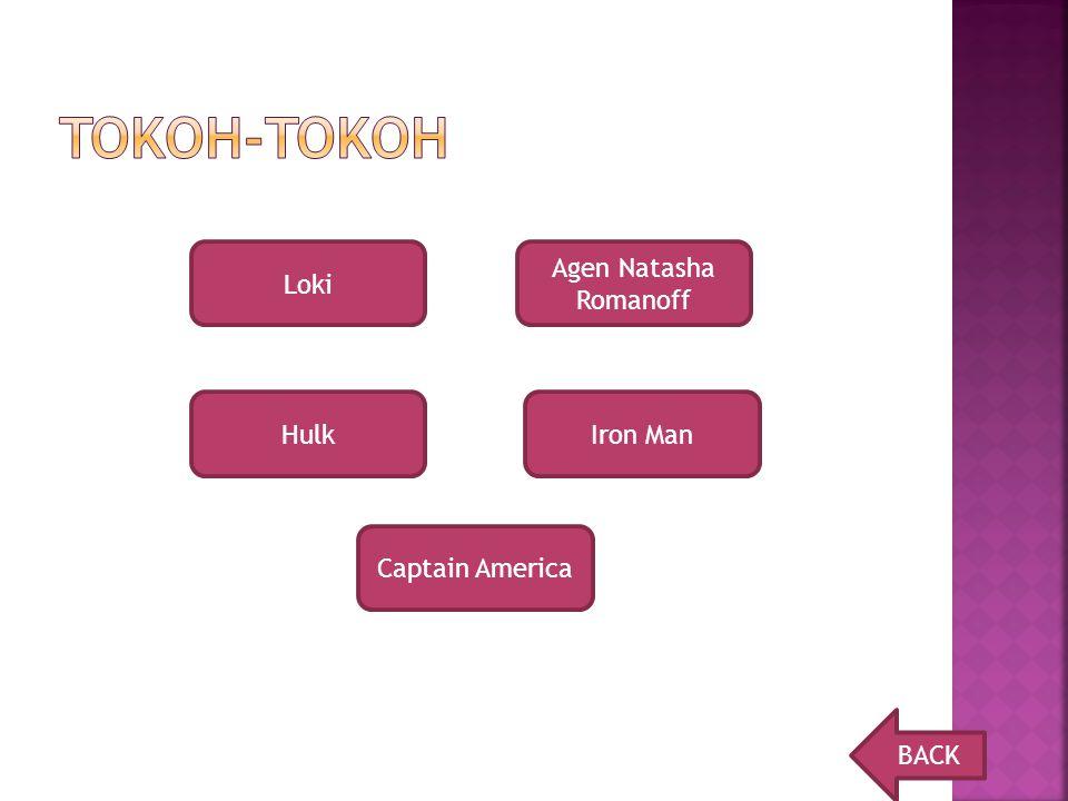 Tokoh-tokoh Loki Agen Natasha Romanoff Hulk Iron Man Captain America